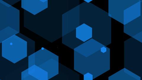 hexagon blue Stock Video Footage