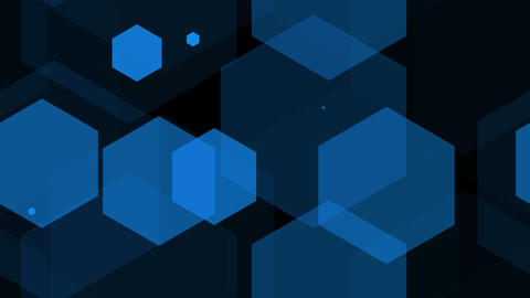 hexagon blue Stock Video Footage