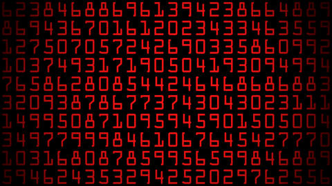 red numbers Stock Video Footage