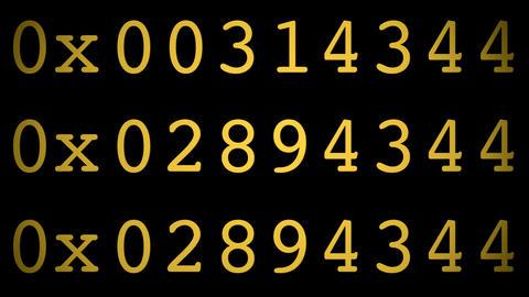 hexa code Stock Video Footage
