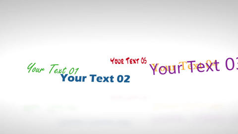 Rotative Texts Display - After Effects Template After Effects Template
