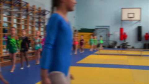 Rhythmic gymnastics training Footage