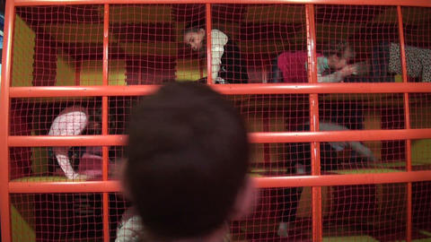 Children in the maze Stock Video Footage