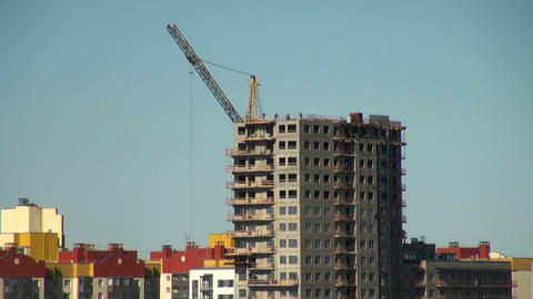 crane at a construction site Footage