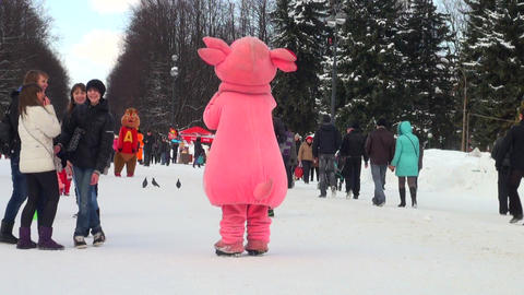 big doll on a holiday Stock Video Footage
