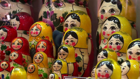 Russian nesting dolls Stock Video Footage