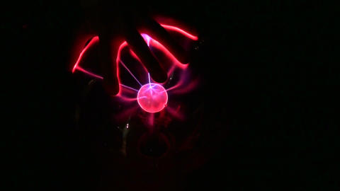 Inside the ball lightning Stock Video Footage