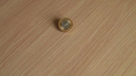 Coins on table Footage
