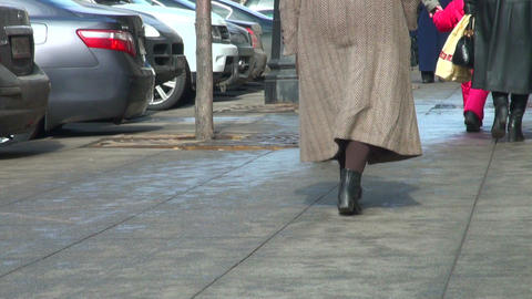 The feet of pedestrians, and passers- by Stock Video Footage