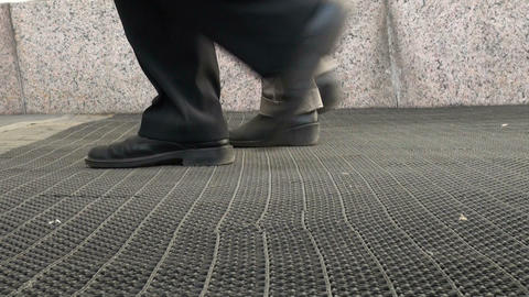 Female feet in boots Stock Video Footage