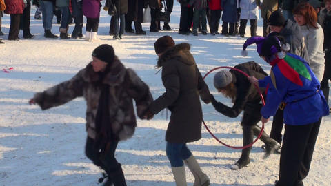 Round dance on a holiday Footage