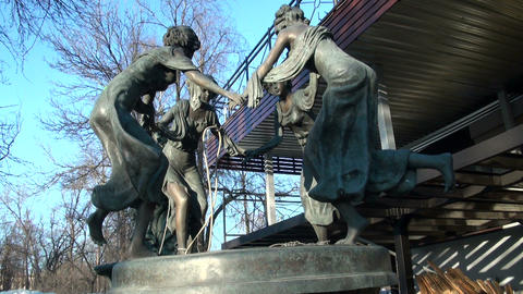 Bronze sculpture Stock Video Footage