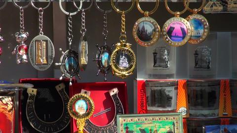 Souvenir shop Stock Video Footage