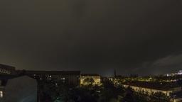 Heavy lightning storm timelapse over Dresden Germany Live Action