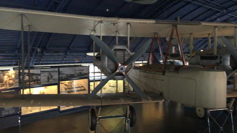 Aircraft of the Science museum Stock Video Footage