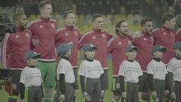 Football team before the match Footage