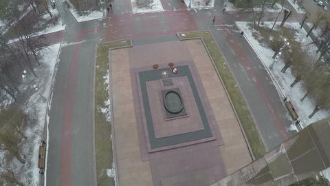 Flying over the Square of Fallen Soldiers, Volgograd Footage