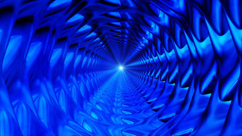 Broadcast Endless Hi-Tech Tunnel, Blue, Corporate, Loopable, 4K Animation