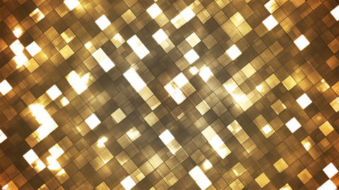 Broadcast Twinkling Fire Light Diamonds, Golden, Abstract, Loopable, 4K Animation