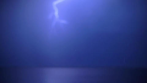 Night thunderstorm with lightning Live Action