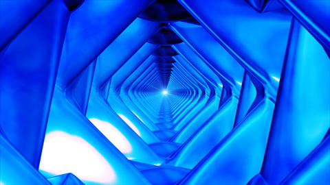 Broadcast Endless Hi-Tech Tunnel, Blue, Corporate,... Stock Video Footage