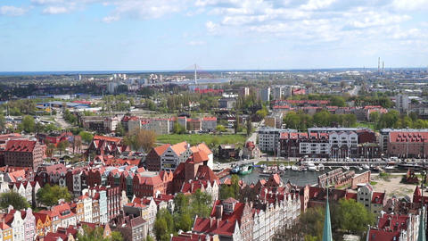 Gdansk, Poland. View From Above Live Action