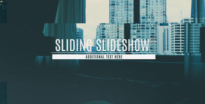 Sliding Slideshow After Effects Project