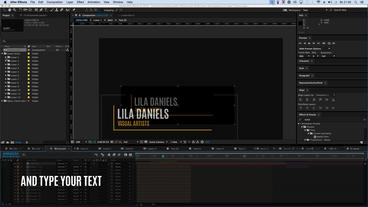 12 Lower Thirds After Effects Template