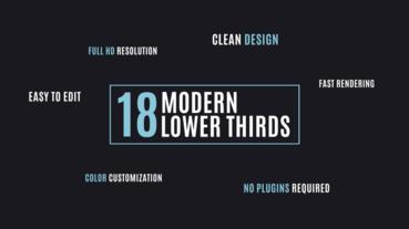 18 Lower Thirds After Effects Template