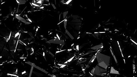 Glass crack and shatter with slow motion. Alpha, 3d render, 3d animation Animation