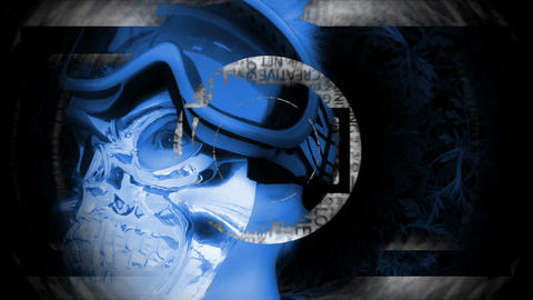 BlueYellow Mannequine's head animation and BG ver2 Animation