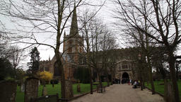Holy Trinity church Stratford upon Avon UK William Shakespeare's grave Footage