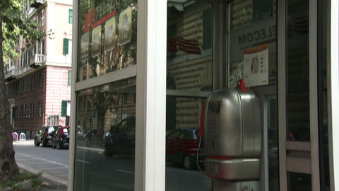 Old Italian telephone booth Footage