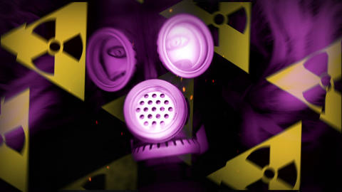Pink Mannequin and Gas Mask Radiation, Stock Animation