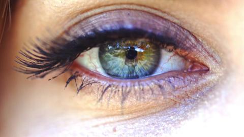 Closeup of female eye Footage