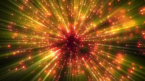 Red and Yellow Galaxy Stars CG動画素材