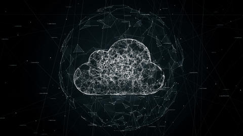 cloud computing, tech animation of cloud symbol Animation