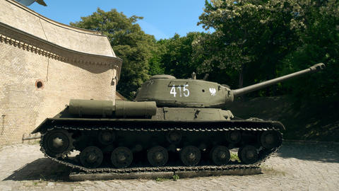 POZNAN, POLAND - MAY 20, 2018. Famous T-34 Soviet era tank Footage