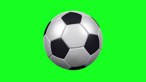 Soccer Ball - Rotating Loop - Green Screen Animation