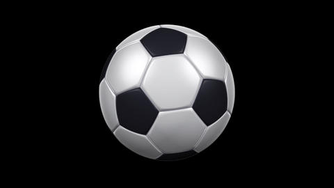 Soccer Ball - Rotating Loop - Alpha Channel Animation
