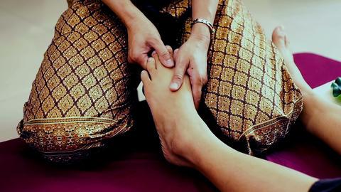 Traditional Thai massage or Thai yoga massage 영상물