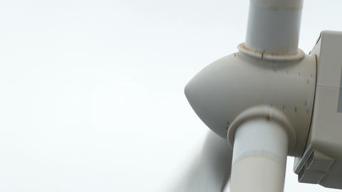 Close-up the shaft the blades of a wind turbine Live Action