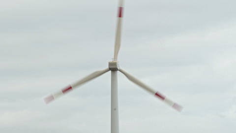Detail of the blades of a wind turbine Live Action