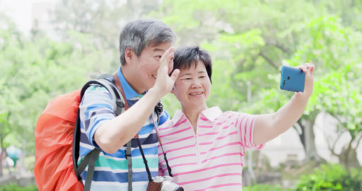 old couple go travel Footage