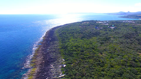 Aerial view of kenting national park coastline. Taiwan Live影片