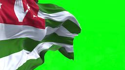 4K Flag of Abkhazia - Seamless Looping Animation