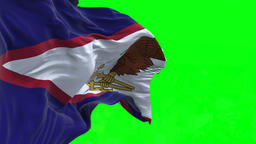4K Flag of American Samoa - Seamless Looping Animation