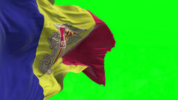 4K Flag of Andorra - Seamless Looping Animation