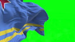 4K Flag of Aruba - Seamless Looping Animation