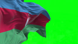 4K Flag of Azerbaijan - Seamless Looping Animation